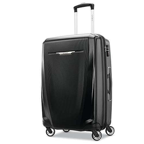 Lock Luggage Samsonite (Samsonite Checked-Medium, Black)
