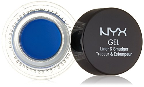NYX Cosmetics Gel Eyeliner and Smudger, GLAS04 Samantha, Cobalt Blue, 0.11 Ounce 2 Pack