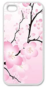Iphone 5 5s PC Hard Shell Case Blossom Abstract White Skin by Sallylotus