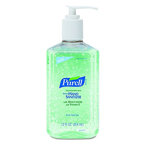 PURELL Advanced Hand Sanitizer Bottle -  Hand Sanitizer Gel with Aloe and Moisturizers, 12 fl oz Bottle (Case of 12) - 3639-12 Instant Hand Sanitizer Bottle