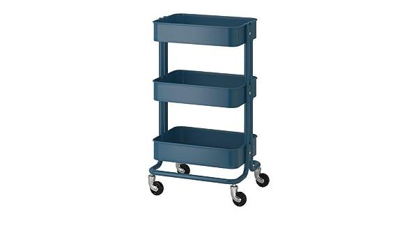 IKEA Raskog 304.017.89 - Carrito de herramientas (3/4 x 17, 3/4 x 30 3/4), color azul oscuro: Amazon.es: Hogar