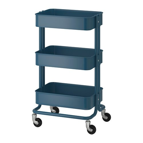 Raskog Utility Cart dark Blue Bundle with Feltectors Cleaning Cloth by Ikea'