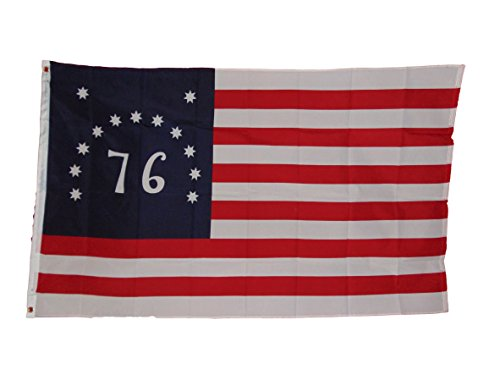 1776 Bennington Us Flag 3x5 Feet 3x5 New in Package Polyester 2 Grommets (1776 Bennington Flag)