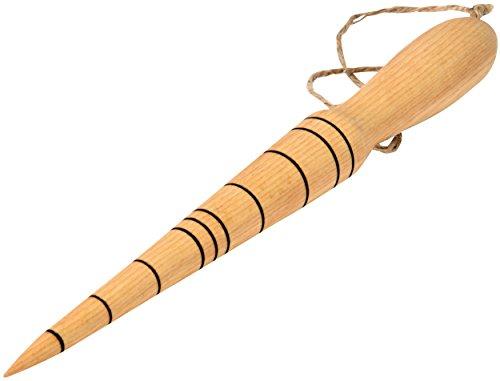 dobar Pflanzholz mit verschiedenen Abmessungen und Leine, Pikierstab aus Holz 27 cm, Durchmesser 3 cm, Buche geölt beige