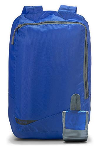 Onda 18L Small Packable Day Pack Backpack for Men Women & Kids| Ultralight Collapsible Outdoor Daypack for Backpacking, Hiking, Camping| LightCarry-on Travel Accessory| School Bag for Laptop (Blue)