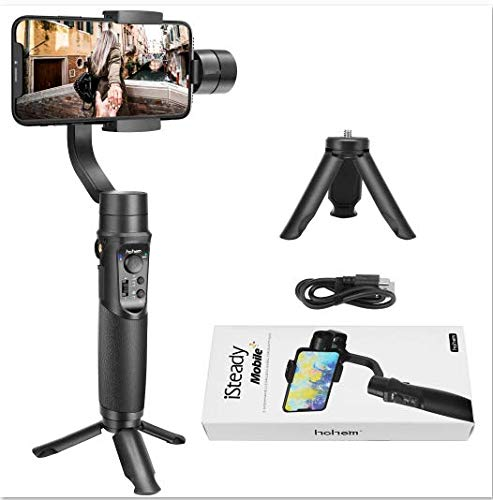 Hohem Smartphone Gimbal Stabilizer 3-Axis Handheld Gimble for iPhone Xs Max Xr X 8 Plus Mobile Gimbal Stabilizer for Android Phone Samsung Galaxy S9+ S9 S8+ S8 S7 S6 Q2 ()