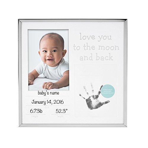 Tiny Ideas Baby's Keepsake Photo Frame, Birth Annoucement, Silver from Tiny Ideas