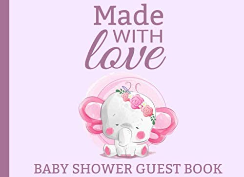Made With Love: Elephant Baby Shower Guest Book | 8,5