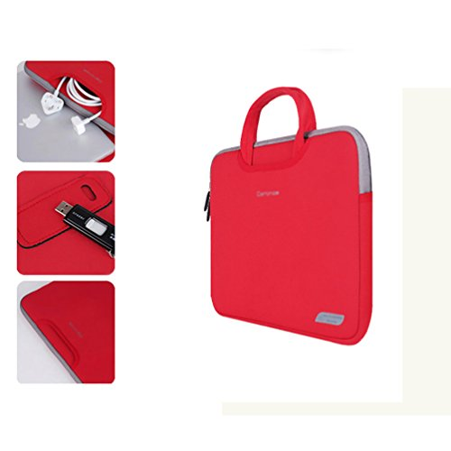 YiJee Mujer Maletín Universal para Portátil Tablet de 11 -15 Pulgadas 15 Inch Rojo