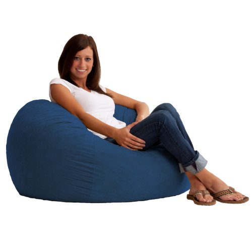 Big Joe Small Fuf in Comfort Suede, Blue Sky
