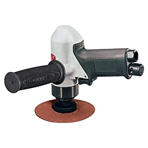 Dynabrade 50321 4-1/2-Inch 114 mm Diameter Pistol Grip Disc Sander, 11000 RPM, Rear Exhaust, 5/8-Inch -11 Female Pad