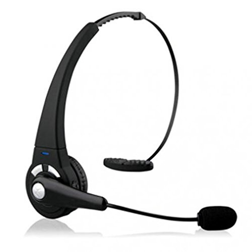 Over-the-Head Headset Boom Mic Wireless Hands-free Headphone Earphone Noice Canceling [Fonus] for Cricket Kyocera Hydro Plus - Cricket Kyocera Hydro View - Cricket LG Escape (Kyocera Over The Head Headset)