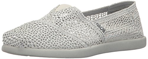 Skechers BOBS Womens World-Daisy and Dot Flat Light Gray