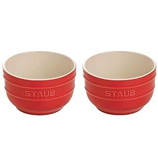 Staub 40511-133 Ceramics Prep Bowl Set, 2-piece, Cherry