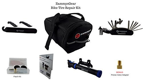 zammysgear-bicycle-flat-tire-repair-kit-bundle-with-accessories-black