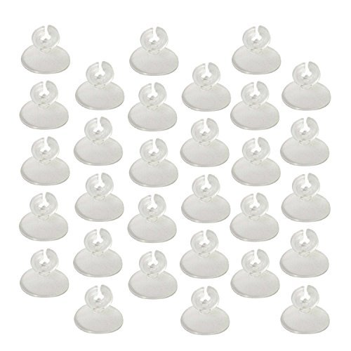 Ellami Pack of 60pcs Clear Soft Suction Cup Airline Tube Holders/Clips/Clamps for Aquarium