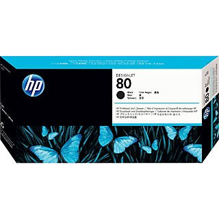 HP 80 Black Printhead & Cleaner