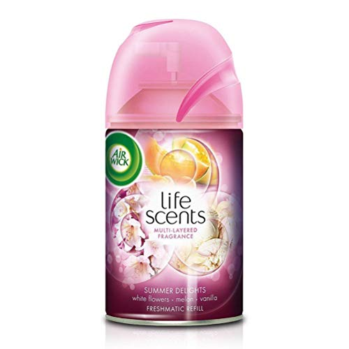 Airwick 'Scents of India' Freshmatic Air Freshner Refill, Aromas of Kashmir – 250 ml and Airwick Freshmatic Refill Life…