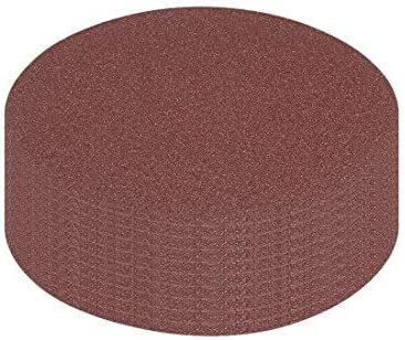 10Pcs 5-Inch Hook und Loop Sanding Disc 80 Grained Sandpaper für Random Orbit Sander Brown