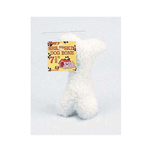 96 Faux sheepskin plush dog toy by FindingKing
