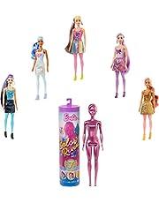 Barbie GTR93 - Barbie Color Reveal-docka med Sju Överraskningar, tillhör Shimmer-serien, för Barn i åldrarna 3 år och uppåt