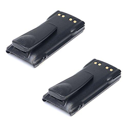 2pcs Masione 7.4V 2000mah Li-Ion HNN9013B Battery for MOTOROLA Radio GP328 GP338 HT750 HT1250 MTX850 MTX950 MTX8250 PR860 by Masione