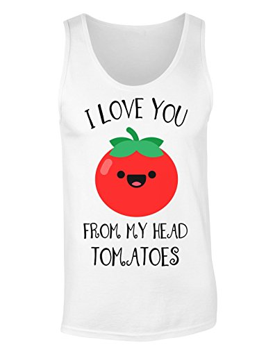I Love You From My Head Tomatoes T-shirt senza maniche per Donne Shirt
