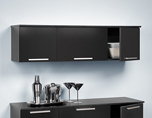 Black Wall Storage Cabinet - 5
