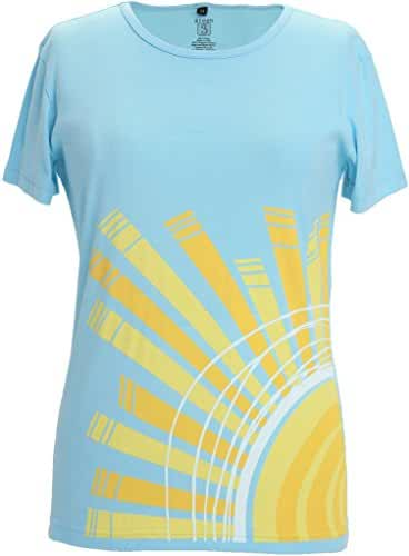 Green 3 Women's Sunrise Organic made in USA tee