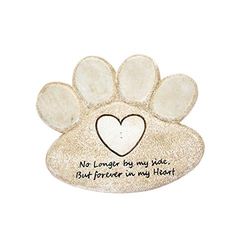 Polystone Pet Memorial Garden Stone Hand-Printed Resin Memorial Stone Loss of Dog or Cat Memorial Gifts