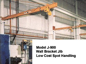 Abell-Howe Wall Mounted Jib Crane. 1 Ton Wall Bracket Jib Crane 10' Span