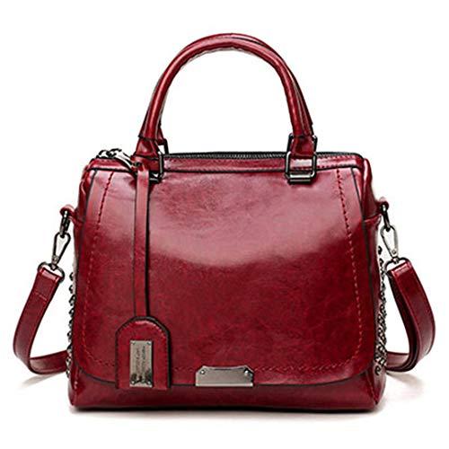 Sacs Main Red Messenger Bandoulière Wine Cuir Sacs Handbag Cire En Femmes De Rivet Mode Huile À Sac Paillettes Dames À w6TI1Ycq