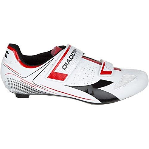 ストレッチ発掘する効果的ディアドラ スポーツ サイクリング シューズ Diadora Phantom II Shoes White/Red/ oby [並行輸入品]