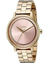 Nixon Womens Kensington Quartz Stainless Steel Watch, Color:Gold-Toned (Model: A0992360-00)
