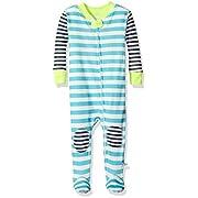 Rosie Pope Baby Boys Snug Fit Coveralls, White Stripe, 12M