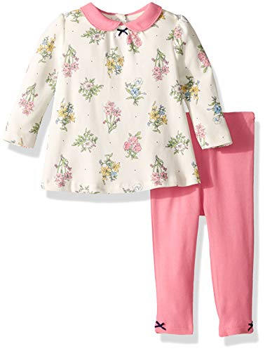 Little Me Baby Girls Tunic Set, Botanical Bouquet Multi/Sachet Pink, 6 Months