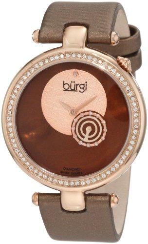 Burgi Women's BU42BR Round Swiss Quartz Dazzling Diamond Watch