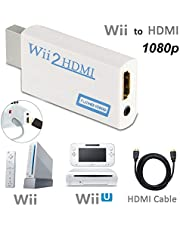 Wii to HDMI Converter 1080P for Full HD Device, Wii HDMI Adapter with 3,5mm Audio Jack&HDMI Output Compatible with Nintendo Wii, Wii U, HDTV, Monitor-Supports All Wii Display Modes 720P, NTS