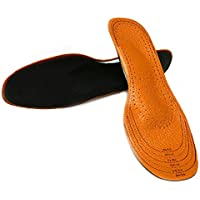 Unisex Genuine Leather shoe insoles and inserts with Arch support