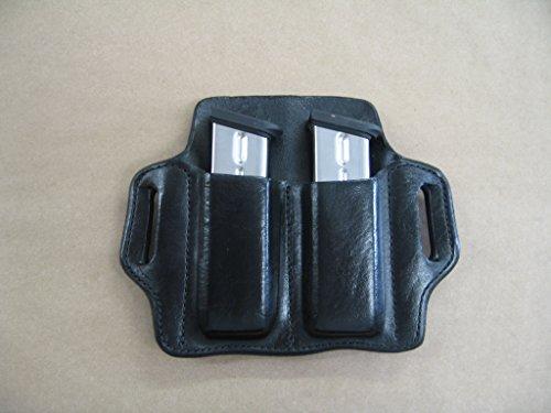 - Heckler & Koch H&K VP9 VP40 9mm .40 Leather 2 Slot Molded Pancake Belt Mag Clip Pouch BLACK
