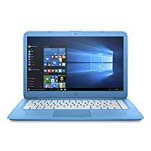 "HP Stream 14"" HD Laptop (Celeron N3060 Processor, 4GB RAM, 32GB Storage) with Windows 10 Home - Aqua Blue"