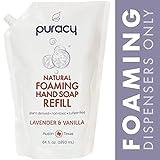 Puracy Natural Foaming Hand Soap Refill, Sulfate-Free Hand Wash, Lavender & Vanilla, 1893 mL