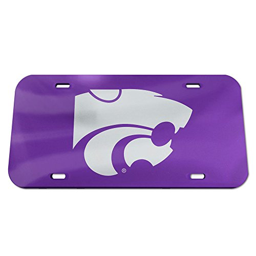Wildcats Crystal (NCAA Kansas State Wildcats Crystal Mirror Logo License Plate, Team Color, One Size)