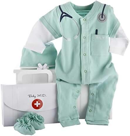 Baby Aspen, Baby M.D. Three-Piece Layette Set in