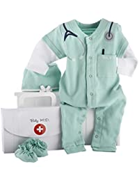 """Baby M.D. Three-Piece Layette Set in """"Doctor's Bag"""" Gift Box, 0-6 Months"""