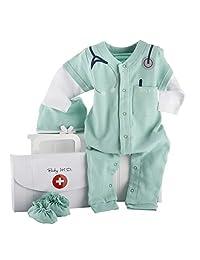 Baby Aspen Baby M.D. Conjunto para bebé de 3 piezas en caja de regalo de maletín de médico, 0-6 meses