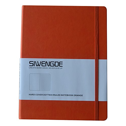 Siwengde Dotted-grid / Ruled / Lined / Bullet Journal Notebook (Bujo) Extra Large (B5,19cmx25cm) 7.5
