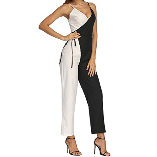 Clearance Sale!! Women's Short Sleeve V Neck Bandage Dot Playsuit Party Clubwear Jumpsuit by-NEWONESUN