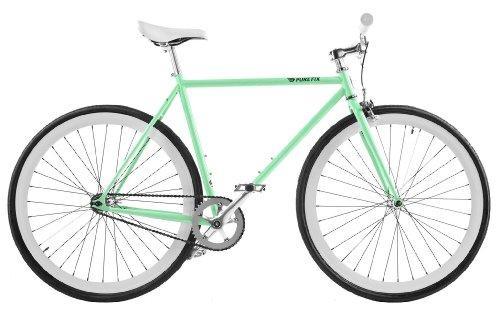 Pure Fix Original Fixed Gear Single Speed Fixie Bike, Victor Celeste-Green/Ghost-White, 47cm/X-Small
