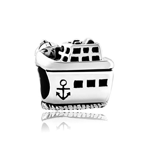 Anchor Small Charm (LovelyJewelry Cruise Steamship On The Beach Retro Small Anchor Charm Bead For Bracelets)